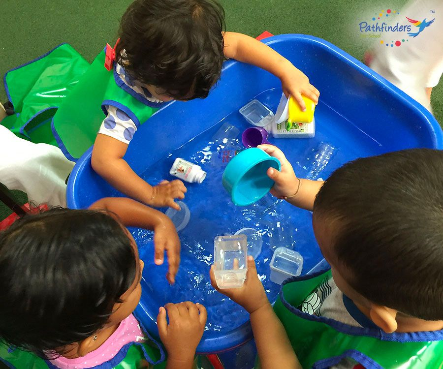 Children are playing with water