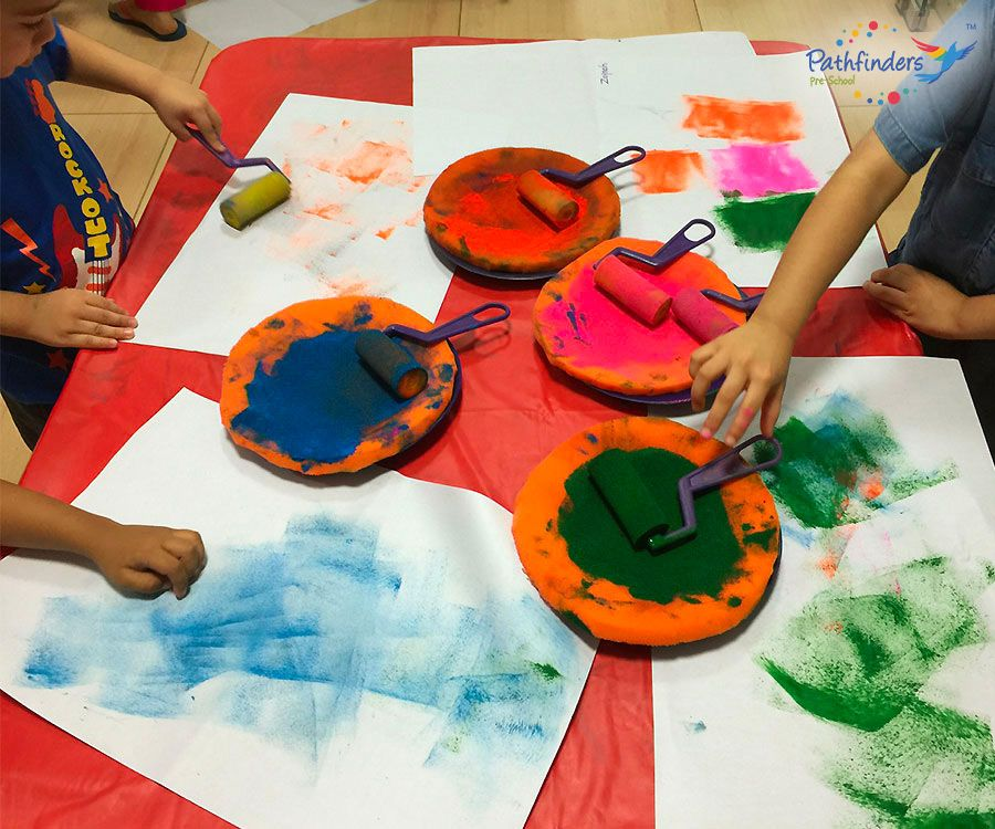 Children learning colors