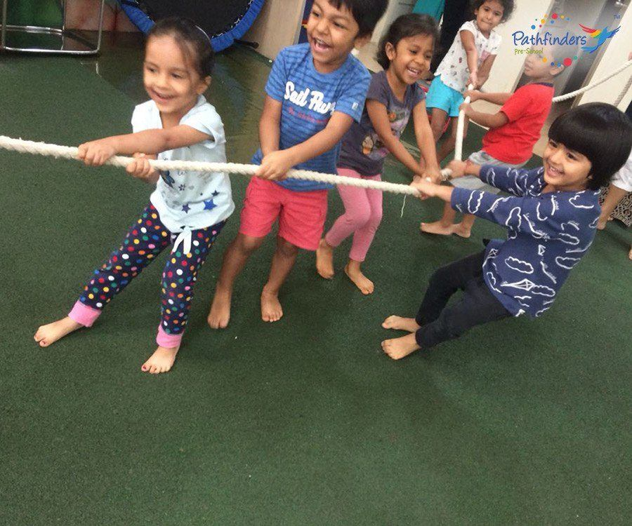 Children are playing with Tugofwar