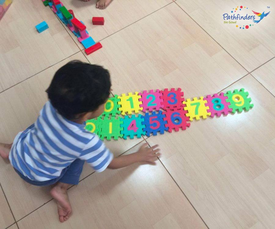 A child understanding Numbers