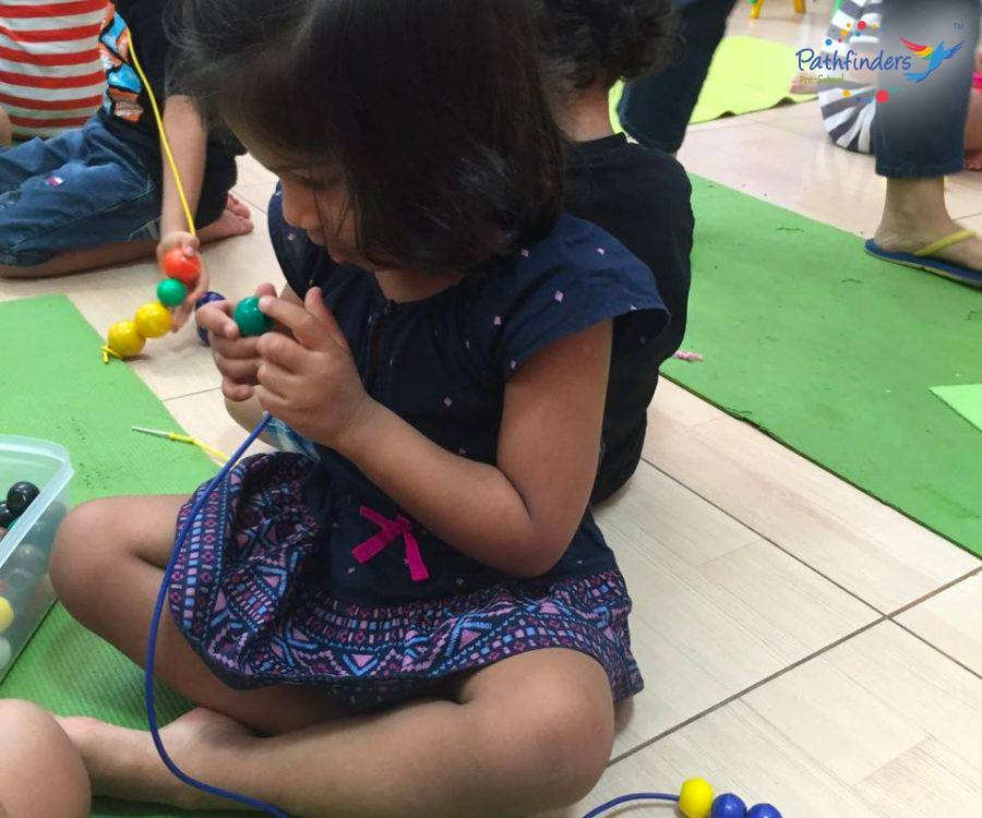 a child is playing